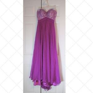 La Femme Dress Pink Strapless Prom Size 2 Formal